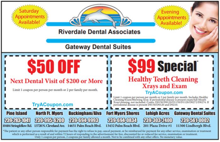 Riverdale Dental Coupon Florida Coupon Book